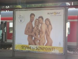 Railway station billboard